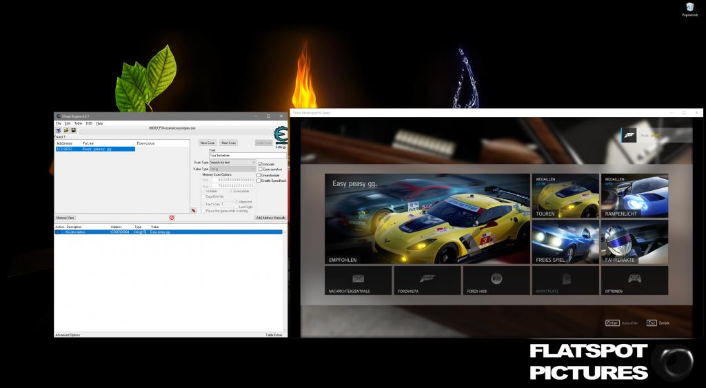 Cheatengine modifying Forza Motorsport 6: Apex