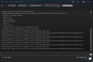 Steam with console tab
